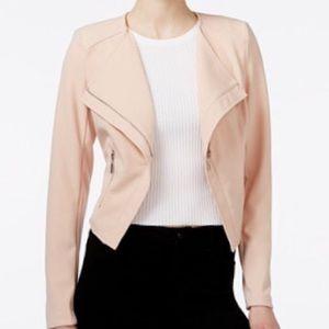 bar III Pink Tulip Back Zipper Jacket